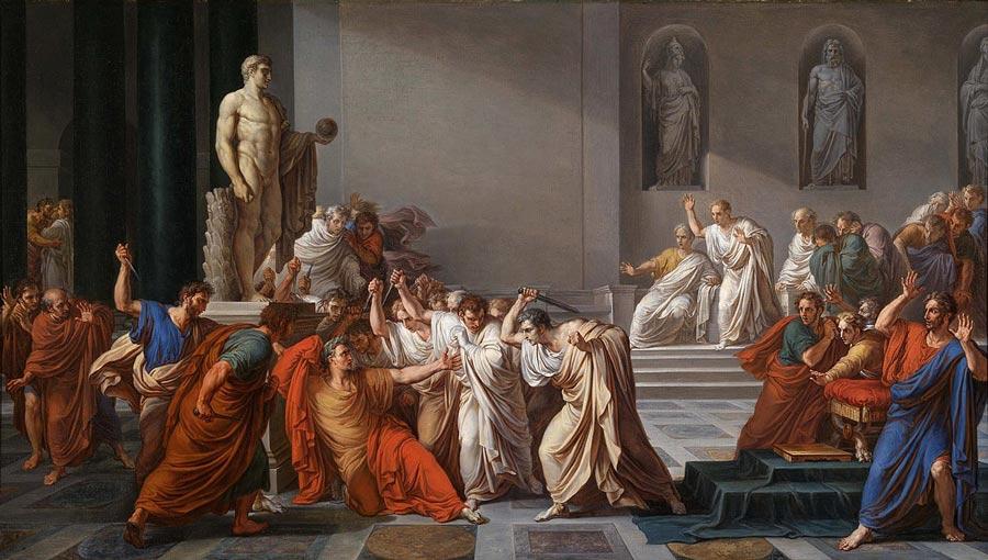 El asesinato de Julio César, por V. Camuccini (1804-1805)