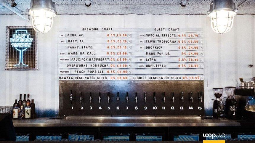 BrewDog AF, el primer bar sin alcohol del mundo llega a Londres – Loopulo