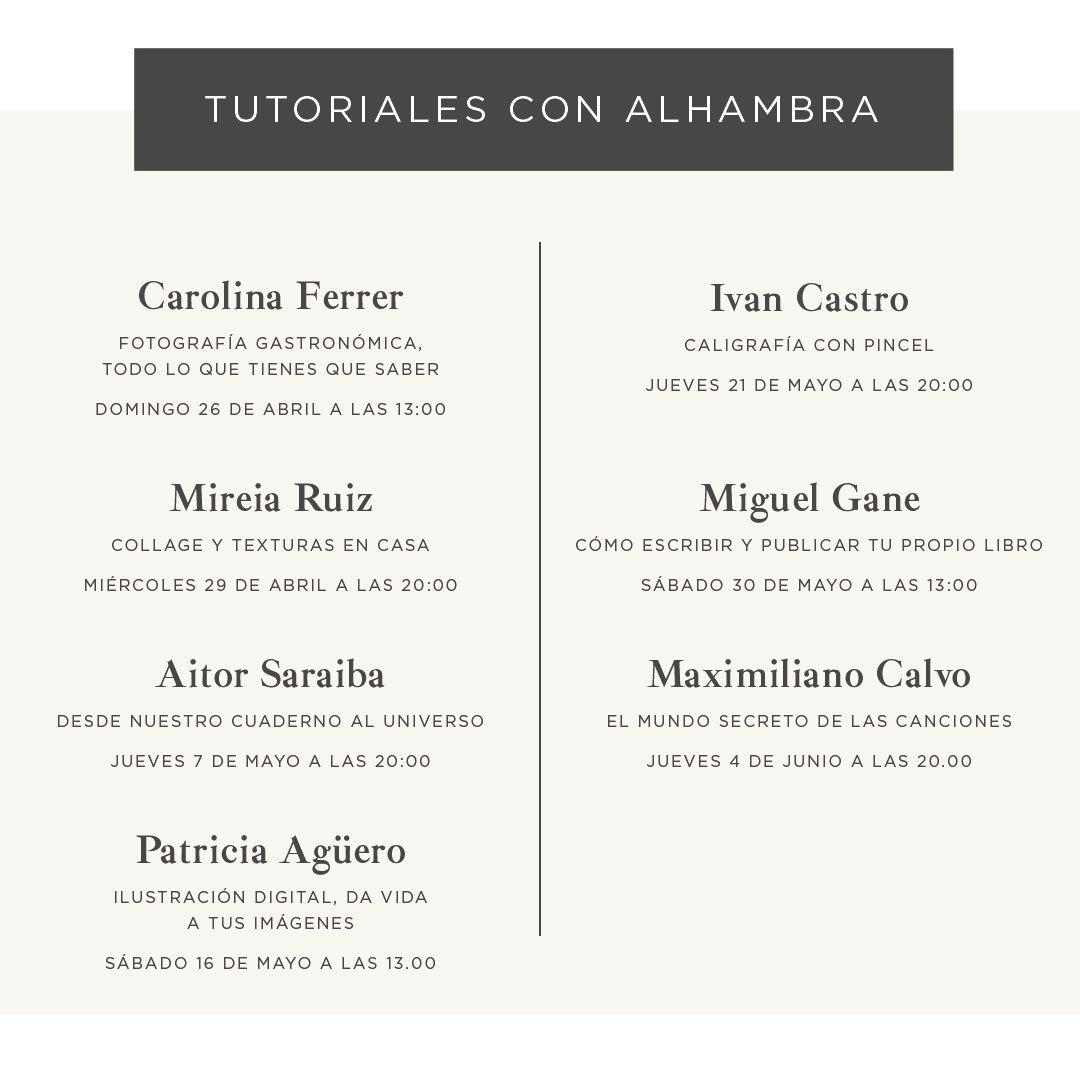 Tutoriales Alhambra: la marca te invita a explorar tu lado creativo   Loopulo