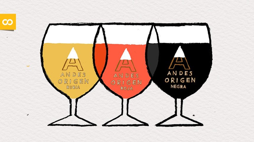 Cerveza mendocina Andes Origen, una marca de Quilmes (AB InBev) | Loopulo