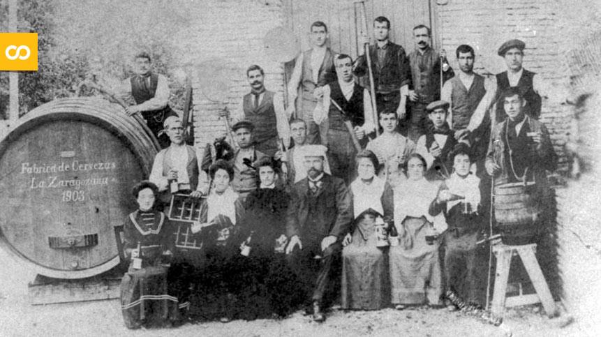 La primera plantilla de La Zaragozana, en 1903   Loopulo