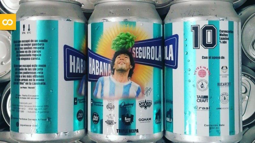 Habana y Segurola, la cerveza colaborativa argentina que homenajea a Maradona   Loopulo