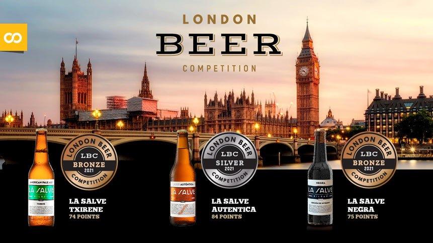 LA SALVE entrega los premios de la London Beer Competition al Clúster de Alimentación de Euskadi - Loopulo