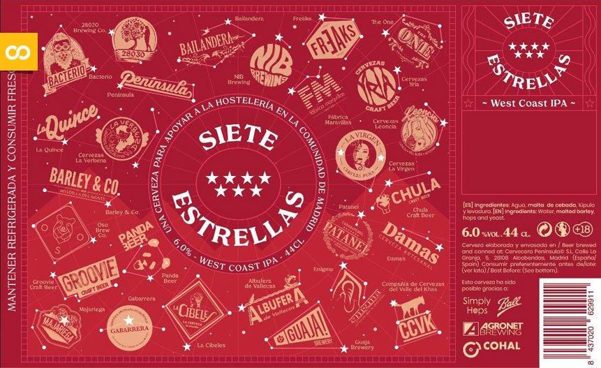 Las craft madrileñas se unen en la cerveza solidaria '7 estrellas' - Loopulo