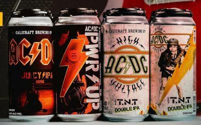 Cervezas de ACDC: PWR UP y TNT las nuevas craft de la banda